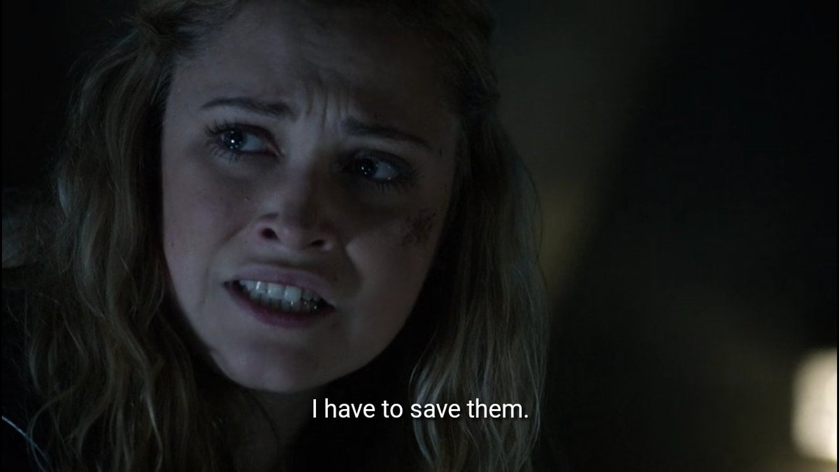 """Replying to @clarkewonkrusz: """"Clarke Griffin, impossible choices."""""""
