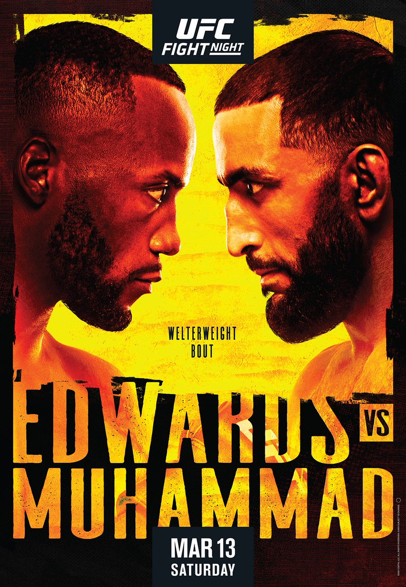 Replying to @UFCEurope: Your official #UFCVegas21 poster!  @Leon_EdwardsMMA vs @BullyB170