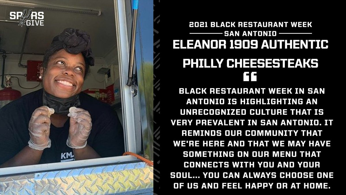 Eleanor 1909: Authentic Philly Cheesesteaks is a local San Antonio food truck that serves an authentic experience and sandwich!  📢$1 from each BRWSA Special sold goes to the @safoodbank!  Here's what participating in @BRWSanAntoniomeans to them! #BlackHistoryMonth