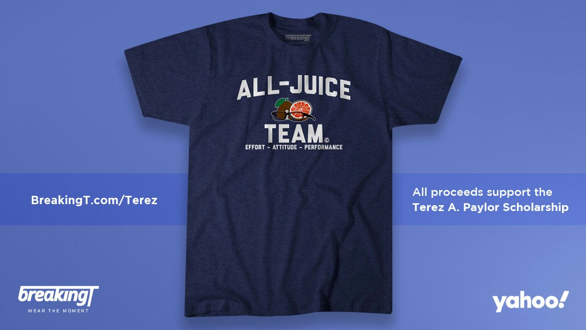 For anyone who was a fan of Terez Paylor -- and I know there are plenty of you -- the good people at @BreakingT made this T-shirt to honor him. All proceeds will go to the Terez A. Paylor Scholarship at Howard University, where Terez went to school: