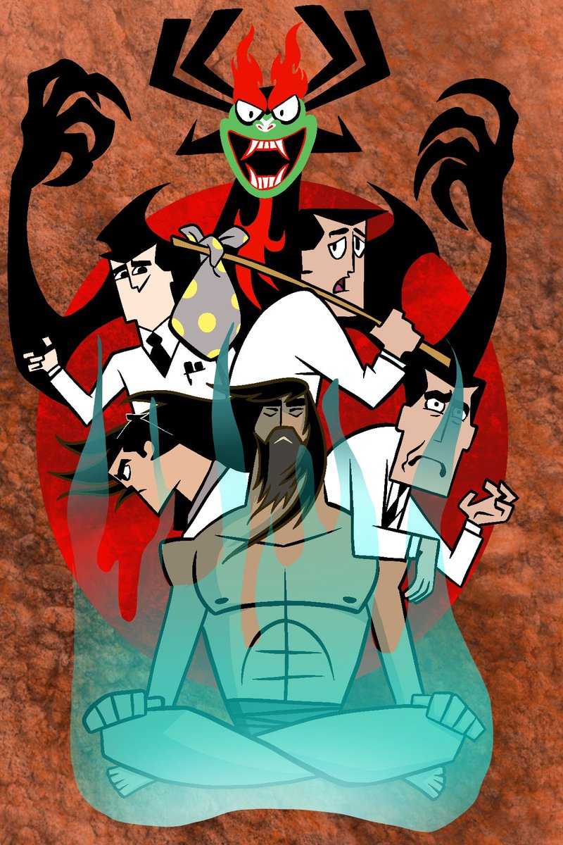 Samurai Jack / Professor Utonium. The battle of oneself. #aku #samuraijack #powderpuffgirls #professorutonium #ipaddrawing #ipadprocreate #sanantonioartists #texasartist #mentalhealth #mentalhealthawareness #selflovejourney #cartoon #cartoonnetwork #art #youth #lifejourney