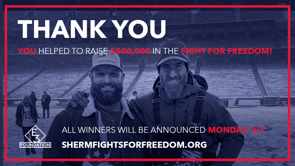What an amazing few weeks, thank you to all who donated!! Your help will make a difference in the fight for those who cannot fight for themselves!! #shermfightsforfreedom #HumanTrafficking #EndItMovement #Chiefs #Runitback #NFL #Ford #Oreo #ThankYou