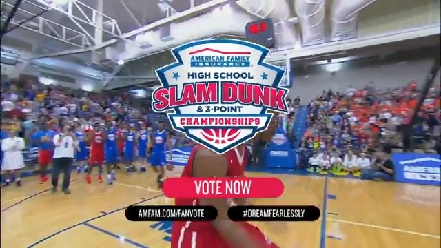 The @AmFam #DreamFearlessly Fan Vote is in full swing!  Matchups are close and YOUR votes matter!   RT, Like and tag your local athletes competing for a spot at the 2021 American Family Insurance High School Slam Dunk & 3-Point Championships!  Vote: