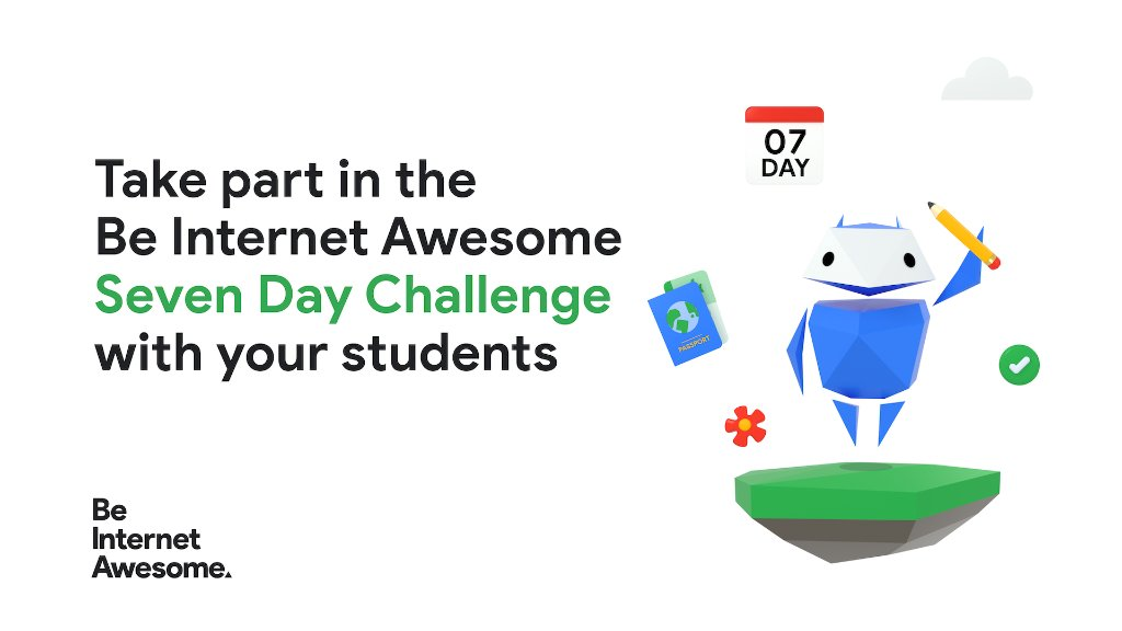 #SaferInternetDay might've been earlier this month, but it's important to be responsible digital citizens all the time. Take a look at our #BeInternetAwesome 7️⃣ Day Challenge for engaging internet safety activities you can do with students year-round: