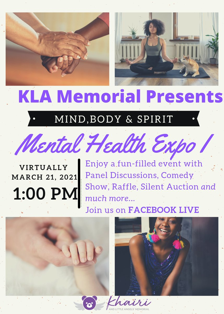 Join us for the Body, Mind & Spirit Mental Health Expo on March 21, 2021! You don't want to miss this exciting virtual event! Enjoy panel discussions, entertainment, giveaways and more.    #health #love #fitness #body #soul #life #meditation #spiritual #spirituality #mind #happy
