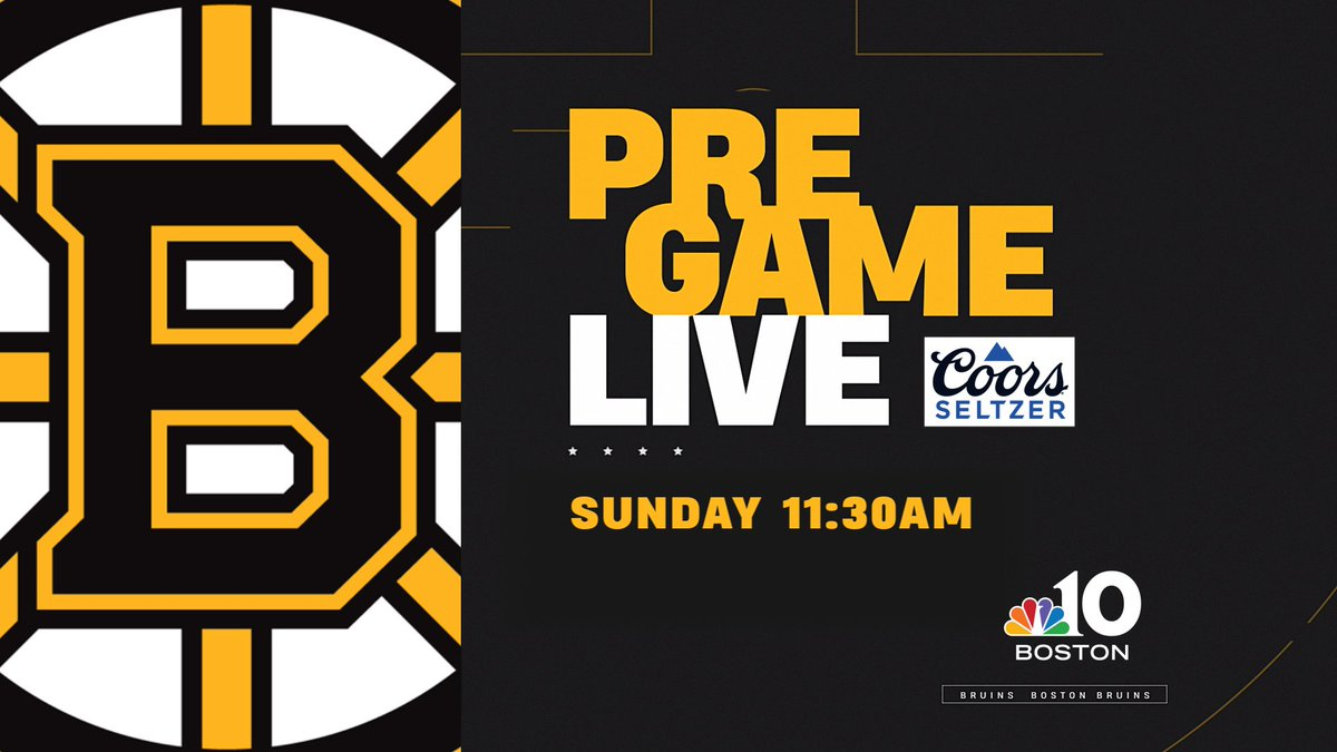Today's the day - Bruins vs Rangers at 12:00 pm on @NBC10Boston 🏒  But first, join Mike Felger, Tony Amonte & @RaulNBCBoston at 11:30 for Bruins Pregame Live - presented by @coorsseltzerUS