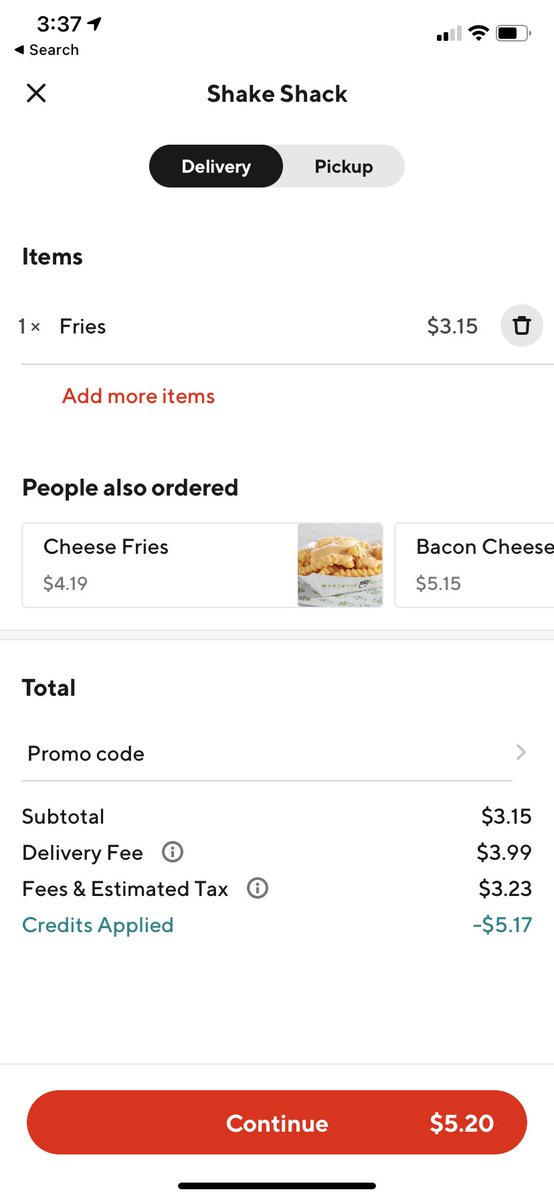 With how often my orders are messed up from @DoorDash I should stop using it. There should also be an option to have a missing item delivered to you at no extra charge. I don't want to pay a $4 delivery fee AGAIN. It's ridiculous.