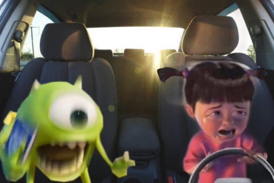 Me yelling at my girlfriend when she drives