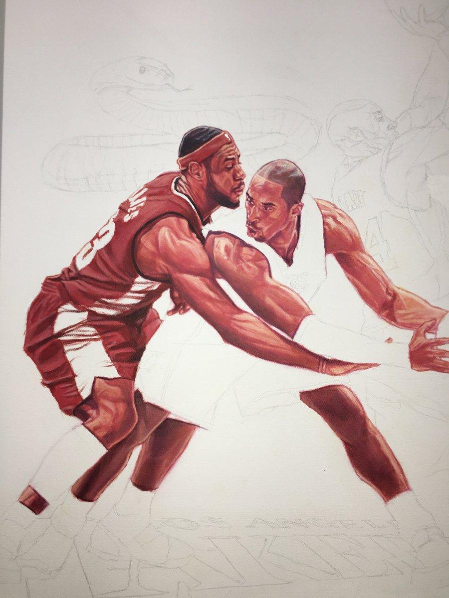 @KingJames starting to take form... #KobeBryant @Lakers #MambaForever