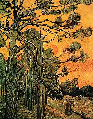 Check out Pine Trees against a Red Sky with Setting Sun by Van Gogh Giclee Repro on Canvas https://t.co/y39FIcAAan #art #fineart https://t.co/S3gCFFZ0Pt