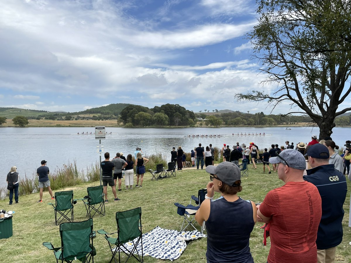 Another glorious day by the lake and another great day for #CGSRowing!! Thanks to ACT Rowing for the invitation to join principals in presenting awards at the ACT Head of the Lake. Congrats to all; well done and big thanks to all behind the @CanberraGrammar surge!