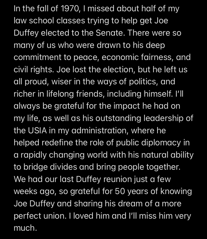 I'm grateful for the life of my friend and mentor Joe Duffey.