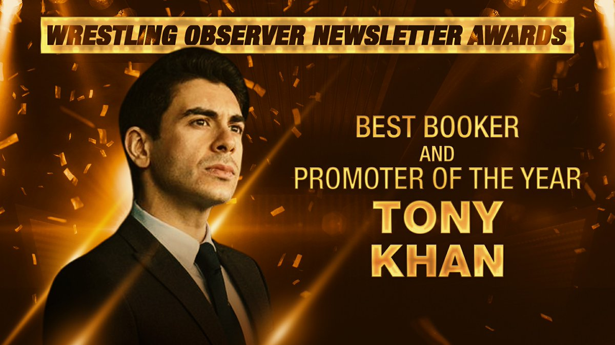 Congratulations to @AEW Owner, CEO & GM @TonyKhan on winning the @WONF4W's 2020 Best Booker + for the second year in a row 2020 Promoter of the Year. Tony joins Vince McMahon + Giant Baba as the only people to ever win both awards in the same calendar year.