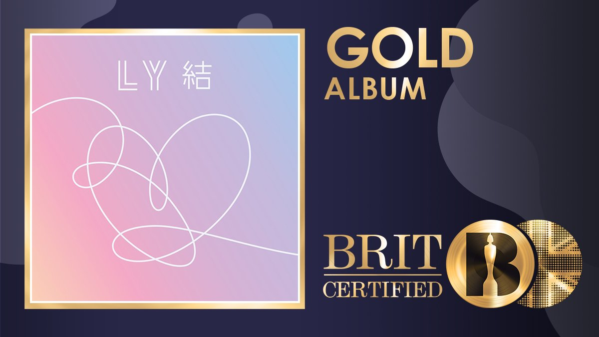 @BRITs @BTS_twt Very much deserved👏Congratulations to BTS! 🎉 'Map Of The Soul: 7' is the third BTS album to go #BRITcertified 📀Gold, and the fastest to do so after 'Love Yourself: Answer' & 'Map Of The Soul: Persona' 💜