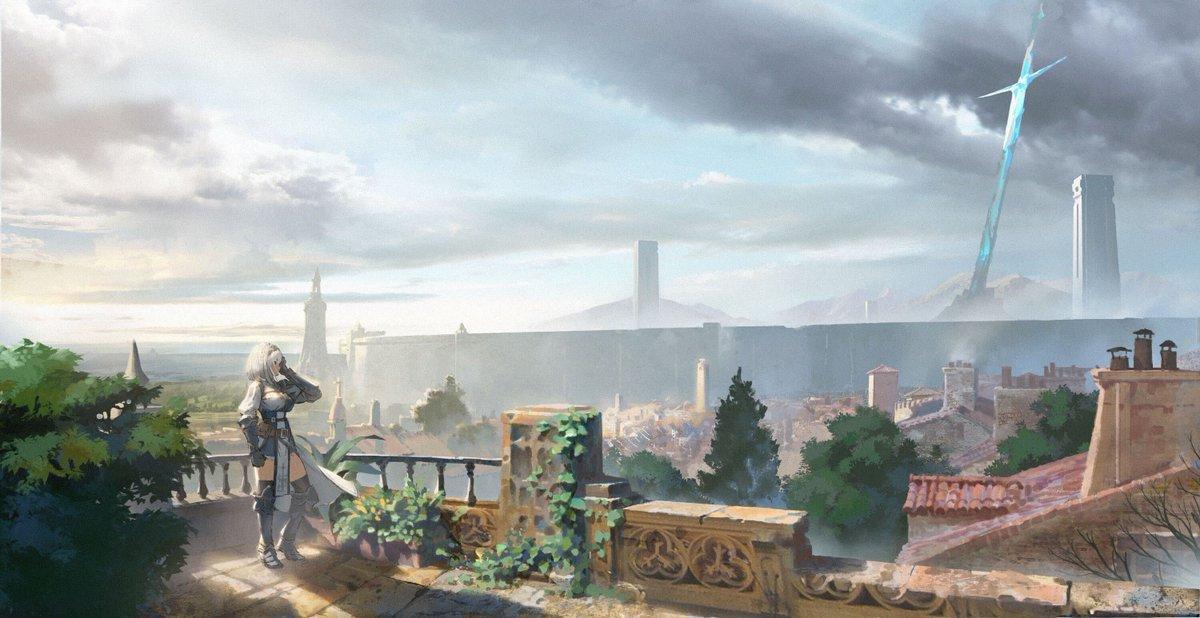 """ホロライブ・オルタナティブ on Twitter: """"都市を取り囲むように聳え ..."""