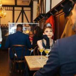 Image for the Tweet beginning: People dine with Audrey Hepburn