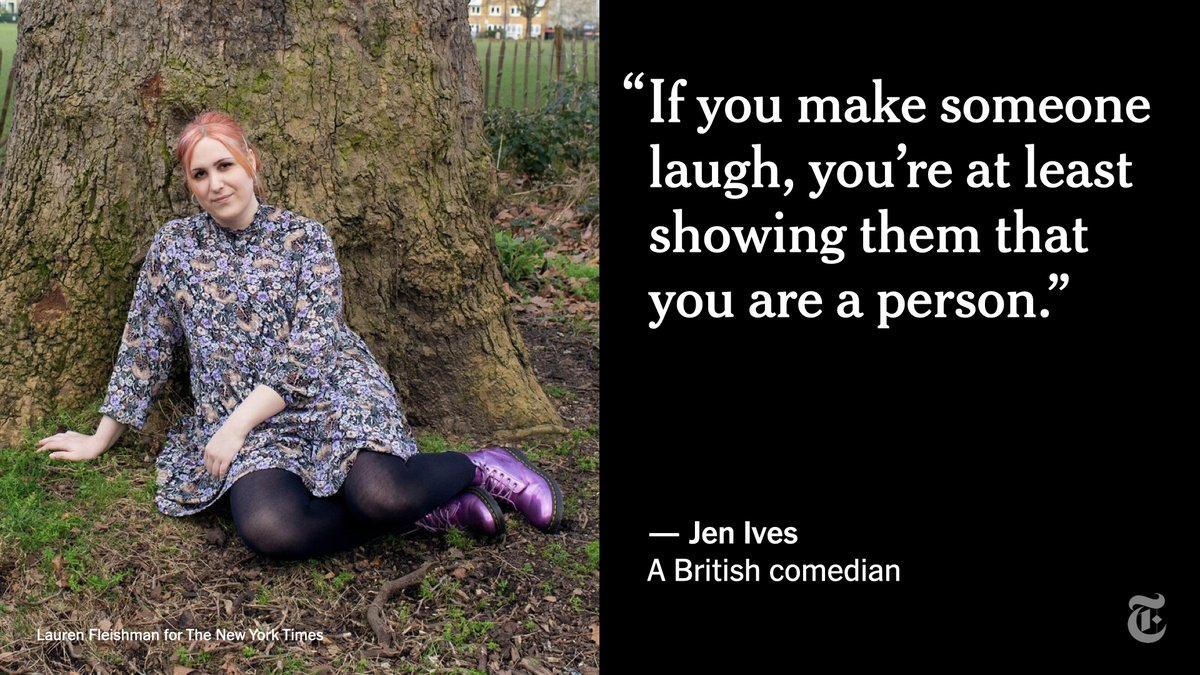 Stepping onstage as a trans comedian, Jen Ives said she sometimes felt like she had to represent an entire community, when she would prefer to just tell jokes.