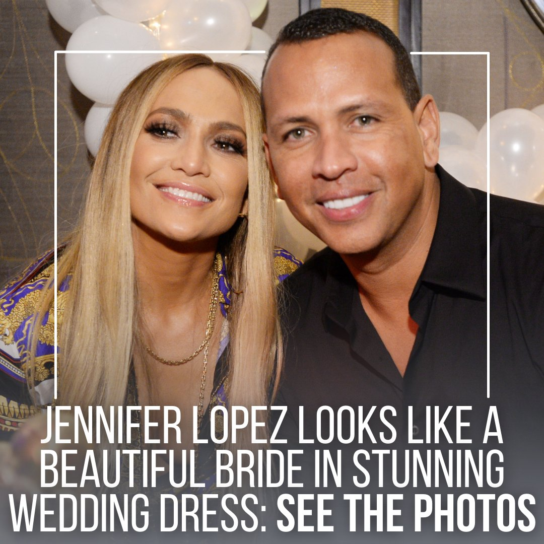 Did #JLO get married and not tell us?! Either way, she makes a BEAUTIFUL bride 😉 Head to our link in bio to see the photos!   @gettyimages #jenniferlopez #shotgunwedding