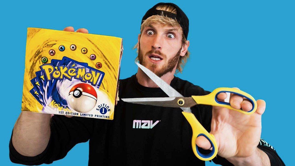Replying to @LoganPaul: the $1,000,000 Pokémon box break...  live on my youtube channel, tomorrow 6p PST 🚀🌕  I'M BUZZIN