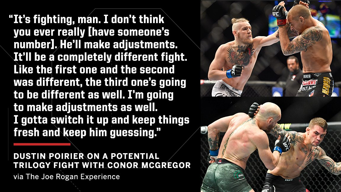 Dustin Poirier predicts the Conor McGregor trilogy fight to be completely different than the first two meetings 🔮 https://t.co/uUoFSb1iug