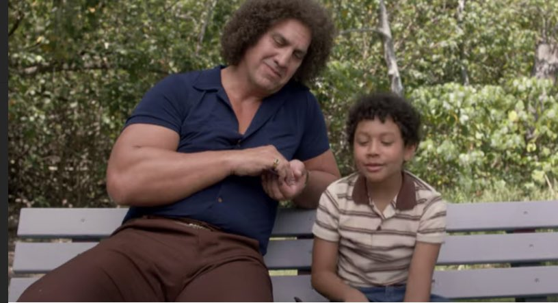 Actor @MatthewWillig plays Andre the Giant on Young @TheRock on NBC - next week he pays a visit to the @SukiandScott Show!  @sukanya @themesengr_
