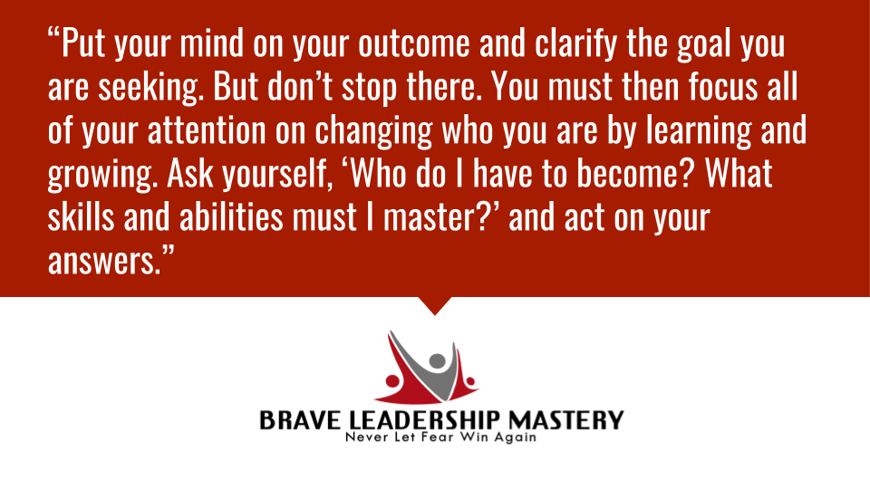 """""""Put your mind on your outcome and clarify the goal you are seeking. But don't stop there. You must then focus all of your attention on changing who you are by...""""  #smallbusiness #entrepreneur"""