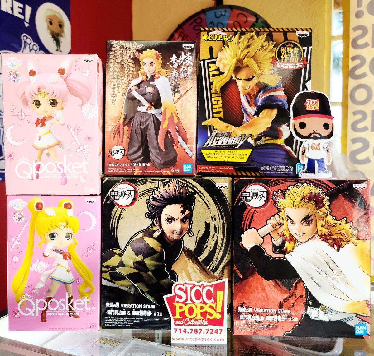 Just In! At #SICCPOPS #Tustin ...... #FunkoCommunity #FunkoFamily #FunkoFunatic #Funko #POP #POPS #Toy #Toys #Statues #Bandai #Banpresto #Anime #DemonSlayer #MyHeroAcademia #SailorMoon