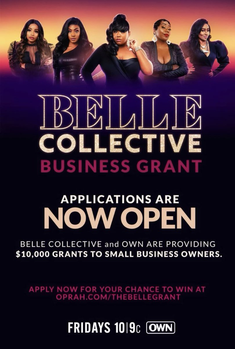 Deadline is TONIGHT! Good luck to all small business owners that applied!!!! It's bigger than the Belles! 🔔❤️ All new episode tonight at 10|9c on @OWNKeepItReal @OWNTV