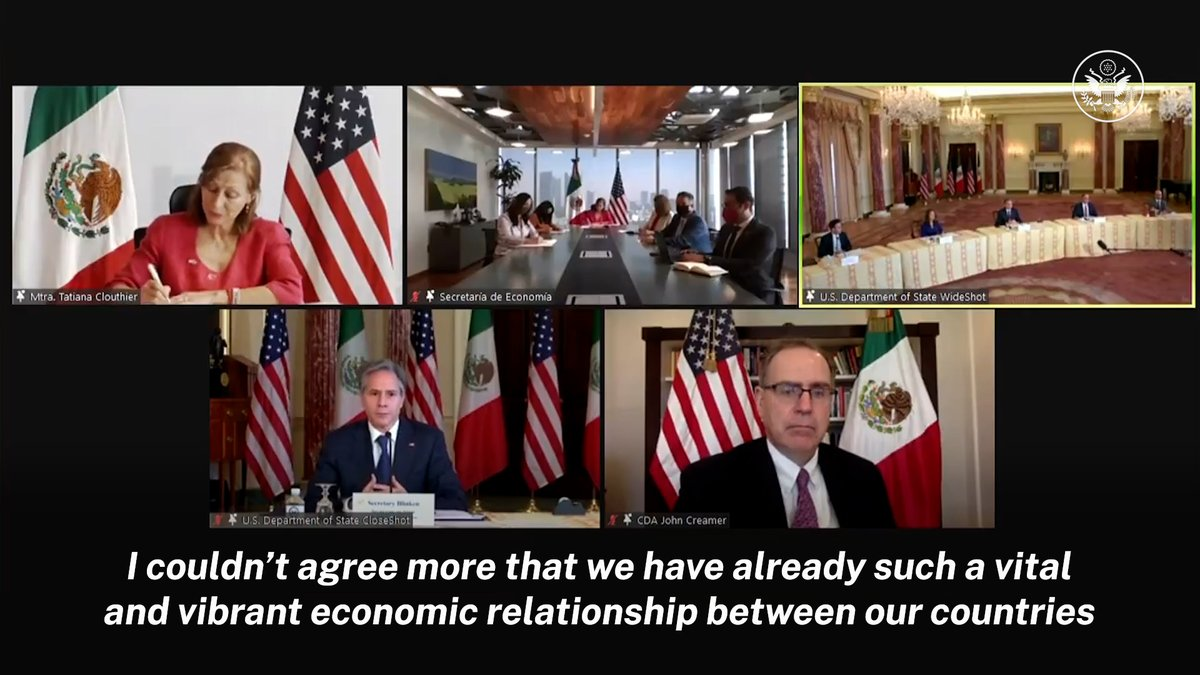 .@SecBlinken comments on the vital and vibrant economic relationship between the United States and Mexico.