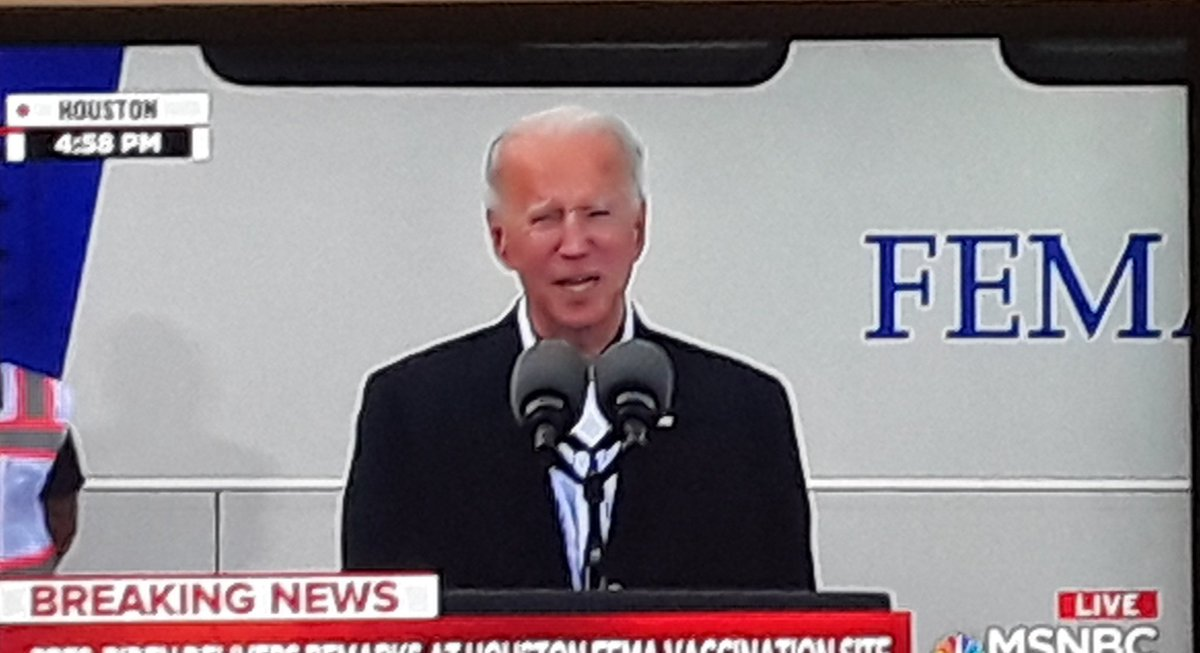 Thank you President Biden for standing up for Texas today  #CruzIsAJoke