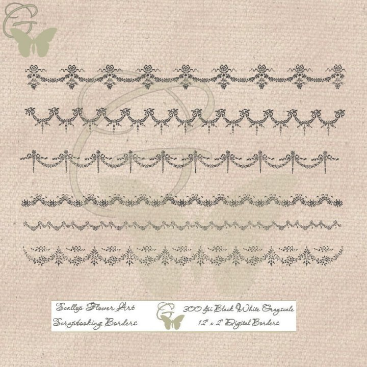 Pretty Digital Swag Border Overlays for Scrapbooking, Card Making!    #clipart #crafting #craftsupplies #downloads #printable #scrapbooking #cardmaking #etsy #etsyshop #etsyseller #digitalart #myartwork #mydesign #graphicsdesign #design #swag #hobbies #fun