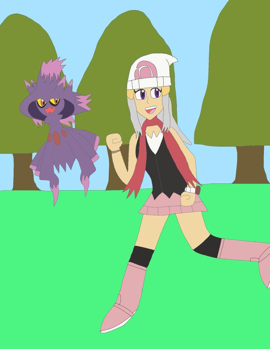 - DP remakes announced  - Jumped for joy - Drew Argelia as Dawn with a Mismagius to celebrate   #pokemon #PokemonBrilliantDiamond #PokemonShiningPearl #oc #originalcharacter #girl #art #Pokemon25