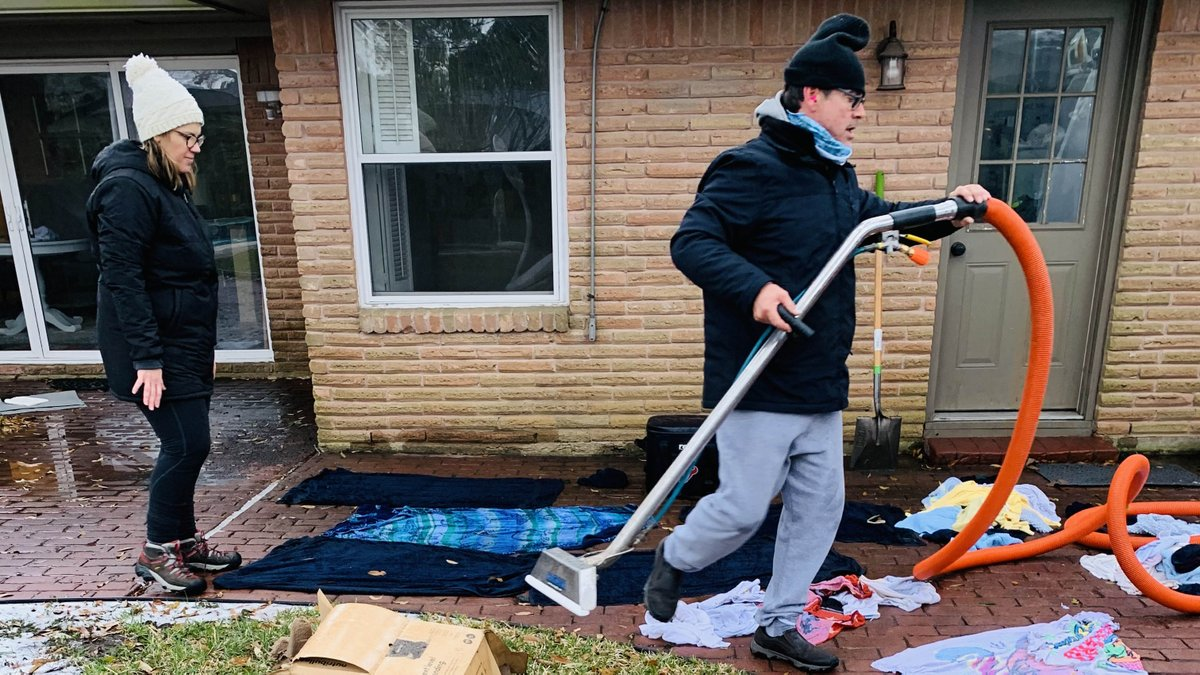 """After water began flooding in through the kitchen ceiling, a neighbor came over to save the day.  """"We never felt more helpless in our lives and had no idea the kindness of a neighbor could turn our outlook around so quickly. Words cannot express how thankful we are for Gabriel!"""""""