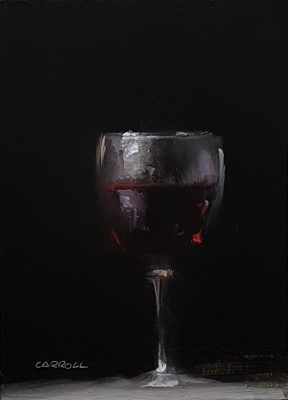 Glass of wine by Neil Carroll. #ArtistOnTwitter #artshare #art #painting