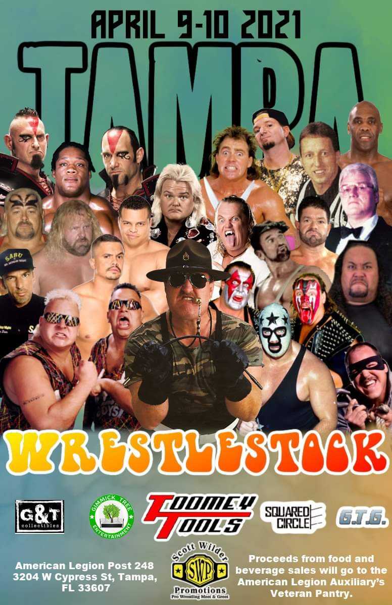 $10 Admission either day ADVANCE TICKETS AVAILABLE NOW  #Tampa #WrestleMania #americanlegion #raymondstadium #TampaBay #tampabaybuccaneers