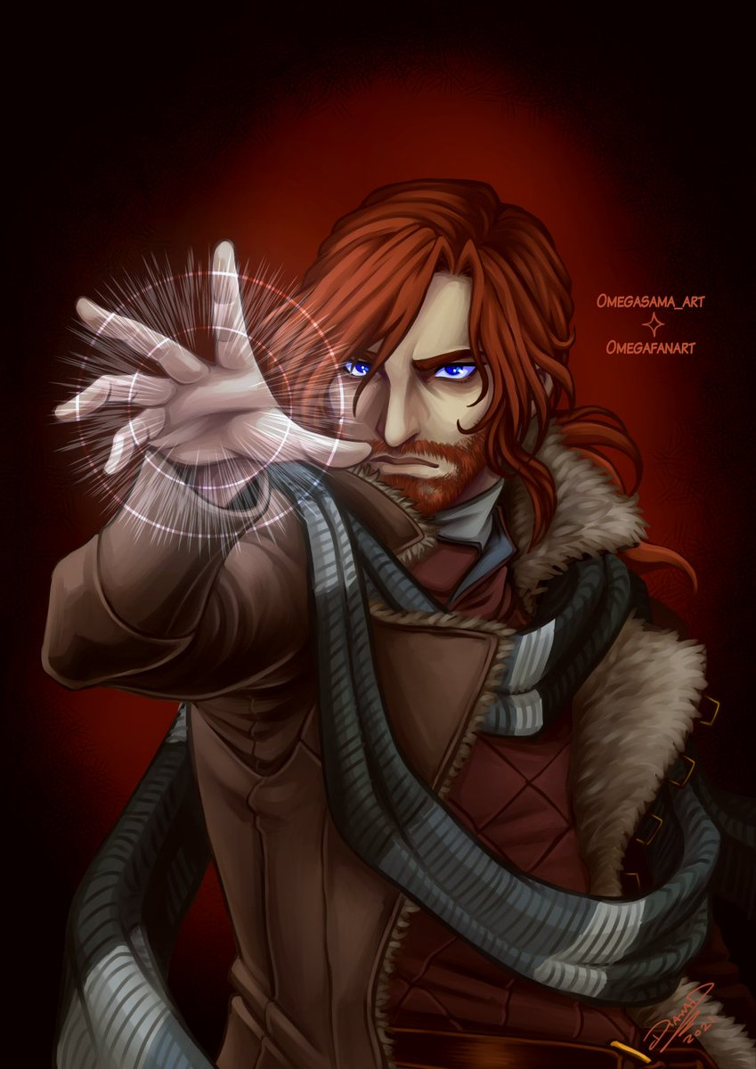 Crushing Gravity.  The companion piece to my earlier Essek art. Caleb crushing the guards in the last episode.  #CriticalRole #criticalrolefanart #CriticalRoleArt #calebwidogast