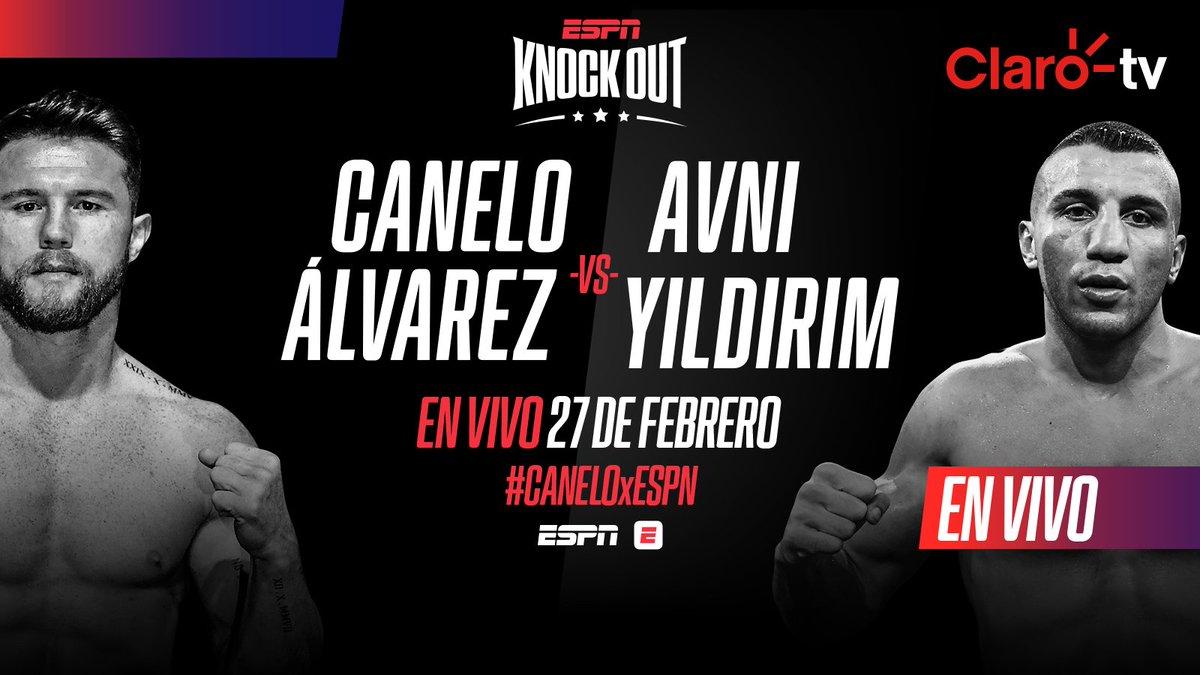 #CaneloÁlvarez esta de vuelta en el ring para enfrentarse a #AvniYildirim, en vivo este sábado 27 por #ESPN 🥊 🔥 #knockout.