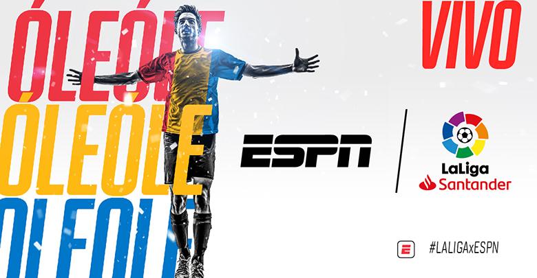 Sábado #LALIGAxESPN ⚽   #Eibar 🆚 #Huesca ⏰09:50ARG/CHI 07:50COL/PE 📺 #ESPN2  #Sevilla 🆚 #Barcelona ⏰12:00ARG/CHI 10:00COL/PE 📺 #ESPN  #Getafe 🆚 #Valencia ⏰16:50CHI 14:50COL/PE (Excepto Arg) 📺 #ESPN  @LaLiga #FUTBOLxESPN