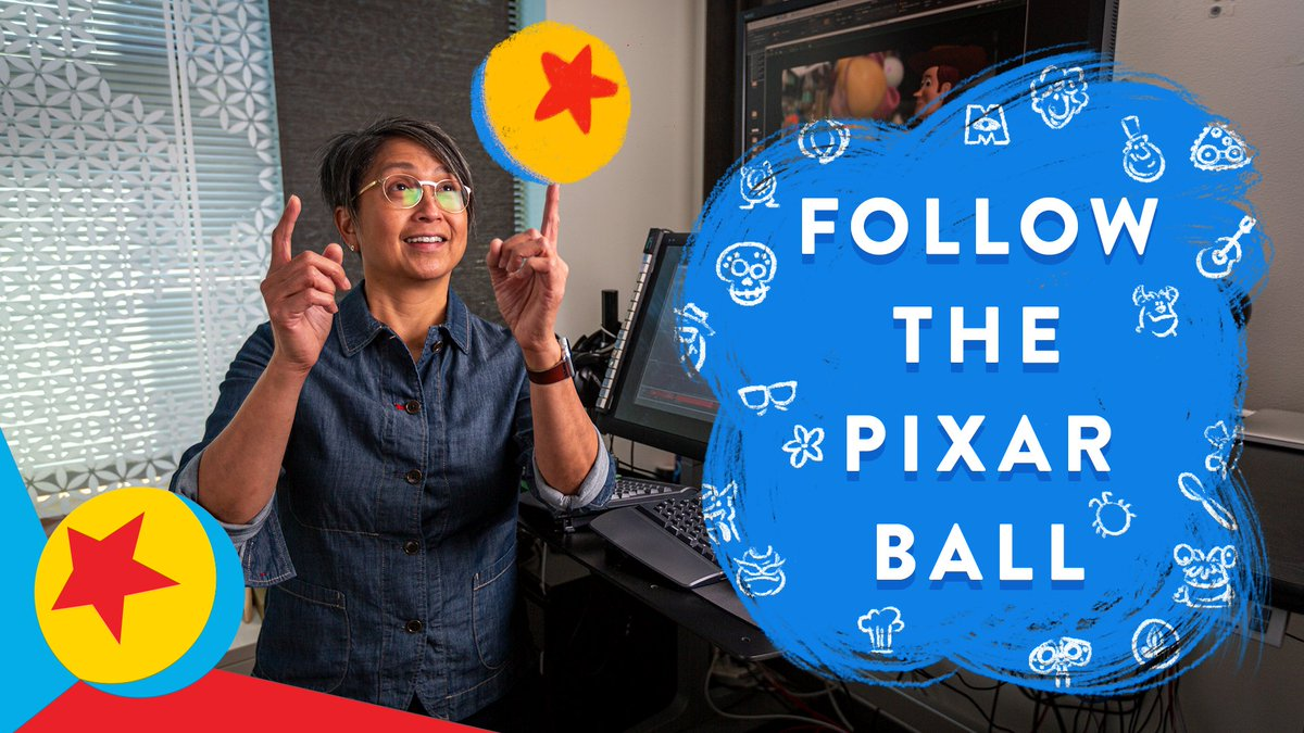 This is touring Pixar Animation Studios…with style! 😎 Follow the Pixar ball as we introduce you to some of the people and places that make our campus great. (Filmed in 2019.)   Get to know even more incredible Pixarians in #InsidePixar, now streaming on #DisneyPlus.
