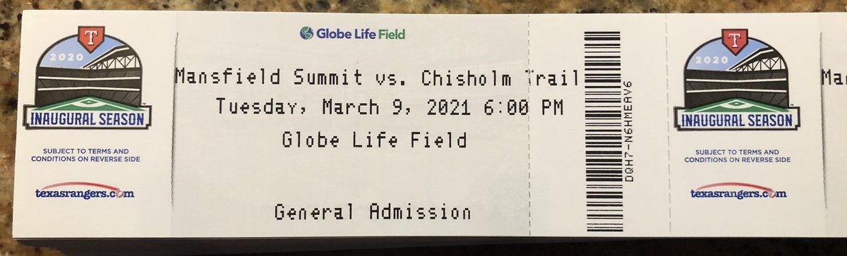 The tickets for our game vs Mansfield Summit at Globe Life Field on Tuesday March 9 at 6:00 PM are here get your tickets today to see your Rangers play at a great ball park. Tickets are only $10 @emsisdathletics  @ChisholmTrailHS  @EdWillkie @MarineCreekMS