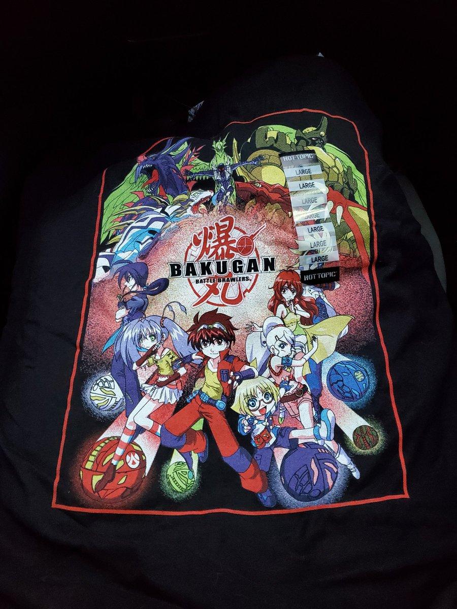 Got some shirts at Hit Topic cuz it was buy 1 get 1 50% off >:3 #Bakugan #DemonSlayer