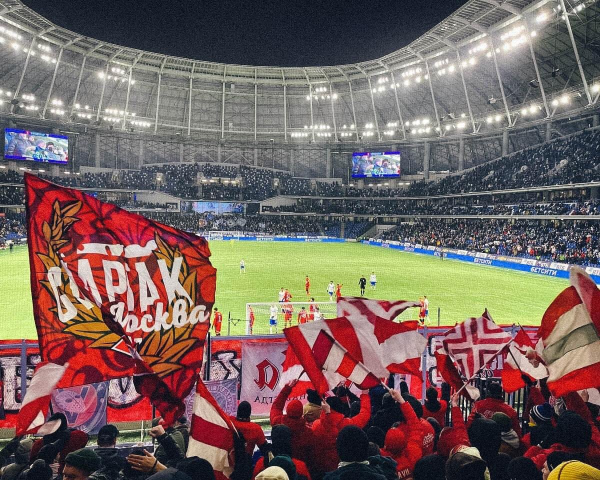 Spartak Moscow at Dinamo Moscow #ultras #russia