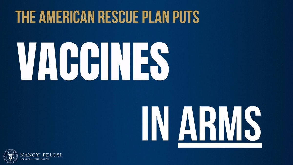 A once in a lifetime crisis demands bold solutions; it demands the #AmericanRescuePlan. @HouseDemocrats will protect American lives & get our economy back on track. Help is on the way.