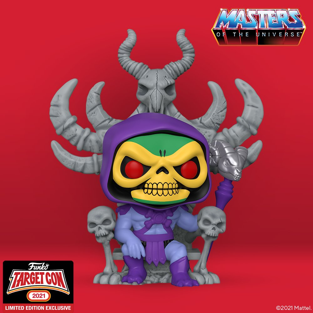 Here's a closer look at our new Masters of the Universe - Skeletor on Throne Pop! RT & comment on this post with your favorite #TargetCon item for a chance to WIN this Pop! #FunkoTargetCon #Funko #FunkoPop