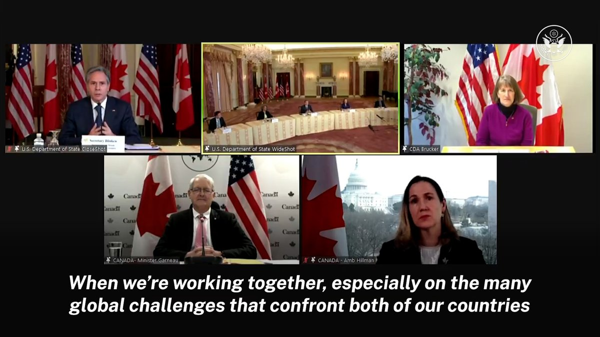 .@SecBlinken on U.S.-Canada relations: When were working together, especially on the many global challenges that confront both of our countries and both of our peoples, we are really democratic and diplomatic force multipliers for each other.
