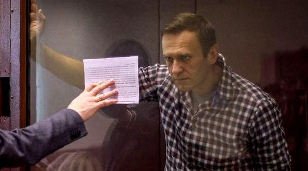 """This is a man who will now """"disappear"""". Opposition leader Alexei #Navalny has been sentenced to oblivion by #Russia. Betrayed by .@Amnesty"""