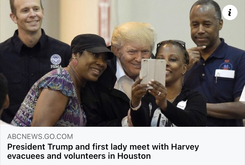 #Trump was in Houston after #Harvey. It was different from 46 's visit.