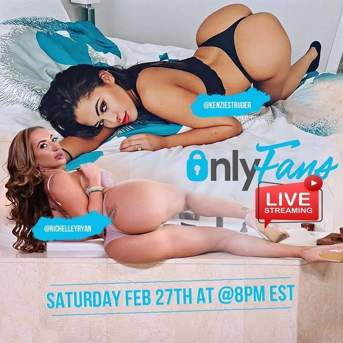 You guys ready to watch @kenziestruder and I together for my live show tomorrow 😈 Sign up now➡️ https://t