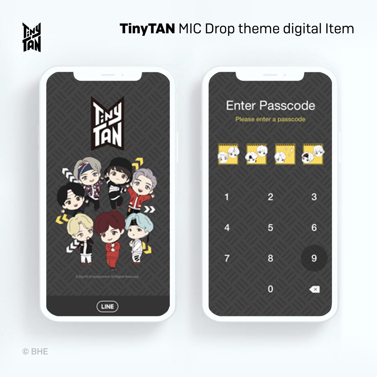 [February 2021] Newly Launched Licensed Products! TinyTAN @LINEStickerJP MIC Drop Theme available worldwide