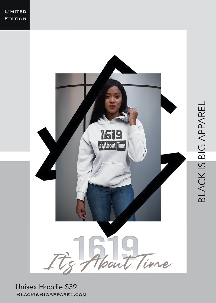 🔥Check out our  #limitededition 1619 IT'S ABOUT TIME  unisex hoodie | $39 🏷 Online at    #buyblack